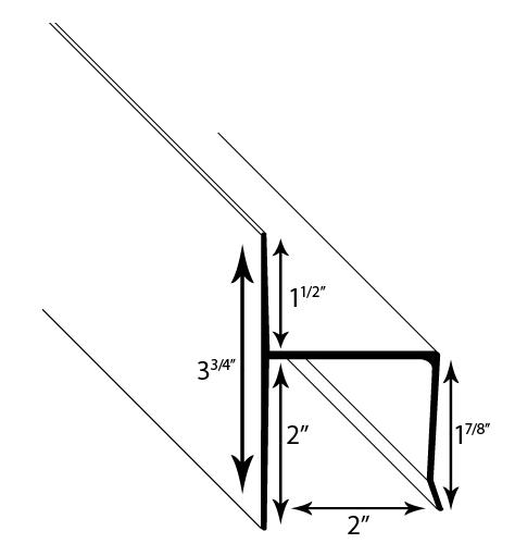 1 inch Offset F Track