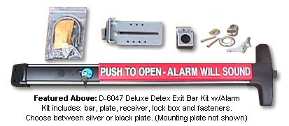 Surface Mount Detex Exit Bar and Accessories