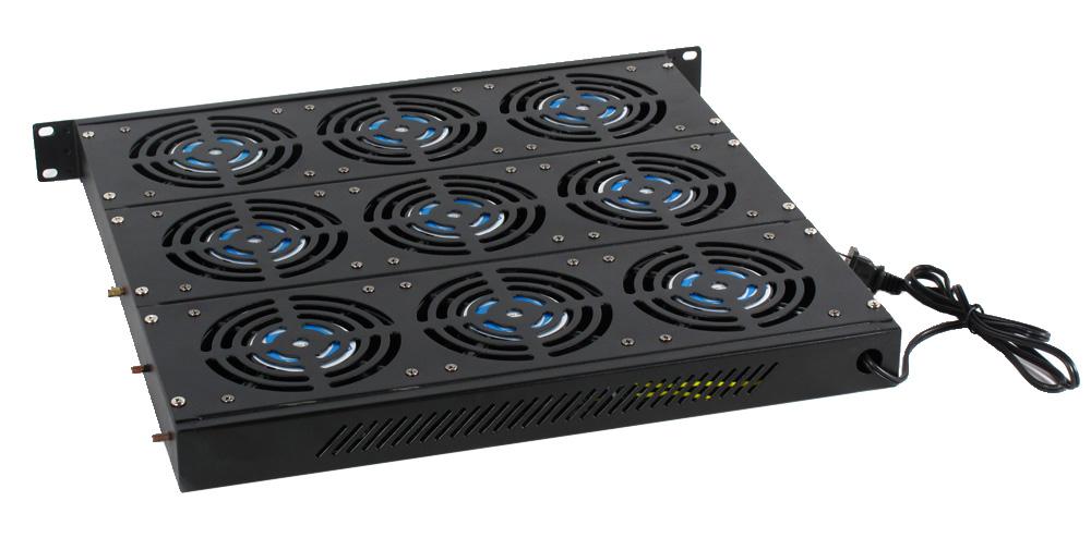 Geek Racks 1U Cooling Rack with 9 Fans