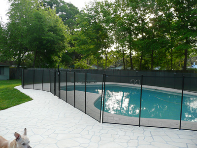 EZ Guard Mesh Pool Fence Installation